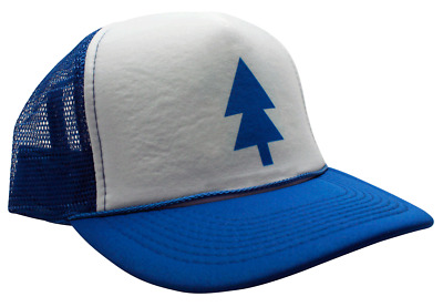 Dipper Gravity Falls Trucker Hat Cartoon BLUE PINE TREE Cap Funny