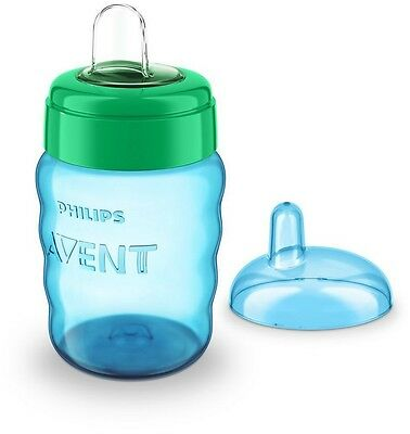 Philips Avent Easy Sip Spout Cup Blue 260ml Soft Silicone Spout Easy Drinking