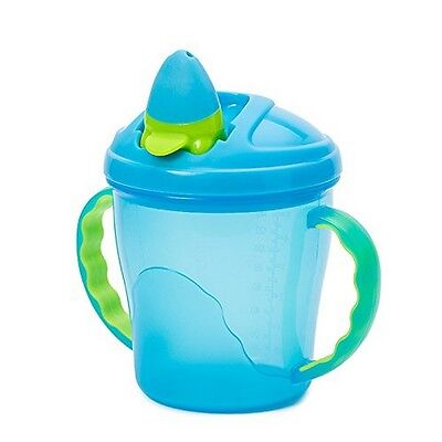 Vital Baby Free Flow Blue Cup Non-Spill Free Flow Drinking Soft Flip-Spout Baby