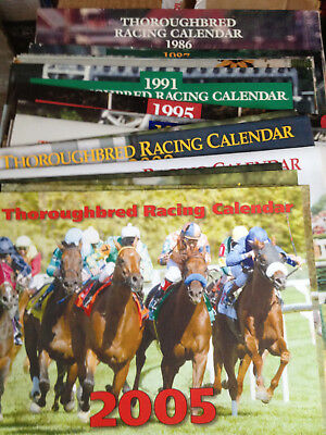 Lot Of Thoroughbred Racing Calendars, From 1986-2017. Lots Of Famous Race Horses