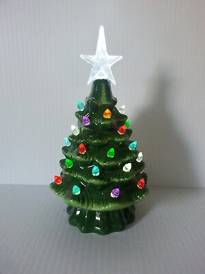 1399 Ceramic Lit Tree~Ideal for College Domes, Display w Dept 56 & Byers Choice
