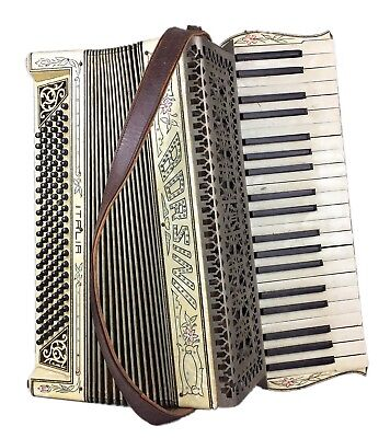 Vintage -Borsini- Original Italian Piano Accordion Concertina Squeeze Box