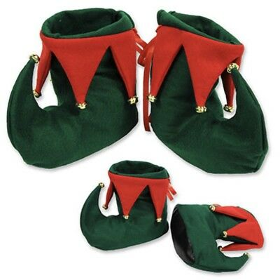 ELF BOOTS Shoes W/ Jingle Bells Christmas Party Costume Accessory Santa's Helper