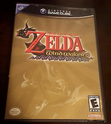 The Legend Of Zelda The Wind Waker Nintendo Gamecube Black Label! Tested! Rare!