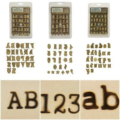 WOOD BURNING PYROGRAPHY Alphabet Numbers Symbols Stamps