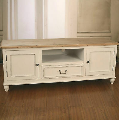 Ex-Display Entertainment TV Unit French Provincial Timber Top Antiqued Media