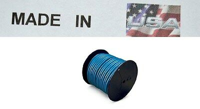 trailer light cable wiring harness 14 gauge 100' wire spool blue camper  trailer