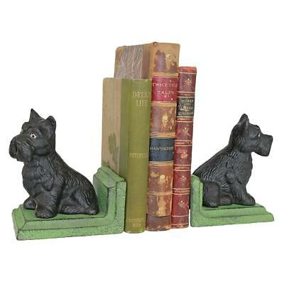 Sitting Scotty Dog Cast Iron Bookend Set Design Toscano Bookends