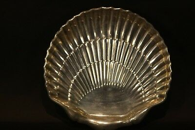Vintage Fisher Sterling Silver Shell Dish Shape With Ball Feet  Dish Coaster NR