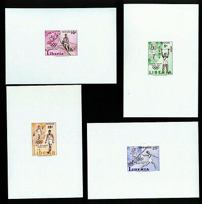 Liberia 1960 Rome Olympic Games Imperforate proof sheets MNH Perfect gum