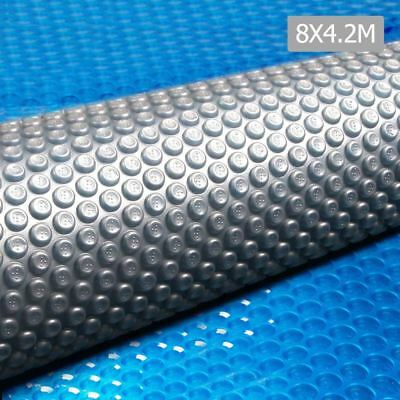 Solar Swimming Pool Cover 500 Micron Outdoor Bubble Blanket 8M x 4.2M Isothermal