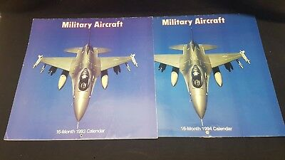 Military Aircraft Calendars 1993 & 1994 (lot of 2) used