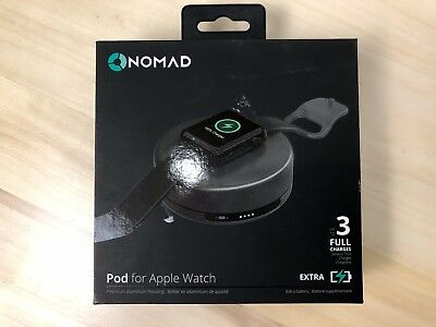 Nomad Pod for Apple Watch Extra Battery Power Pack Space Grey 3 Full Charges NEW