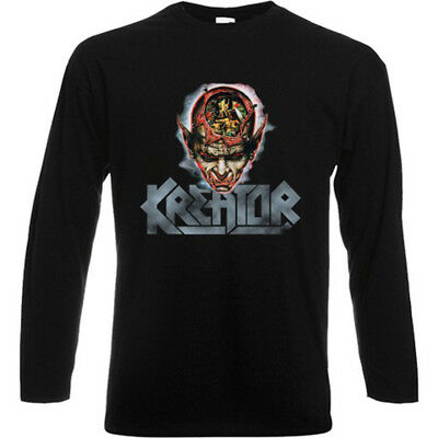 New KREATOR Coma Souls Metal Rock Band Long Sleeve Black T-Shirt Size S-3XL
