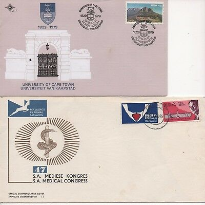 SOUTH AFRICA - 4x FDC's from 1966, 1968, 1969 and 1979