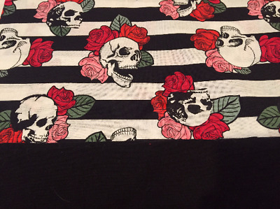 Striped Skulls w/ Roses * Baby Infant Toddler Girls Dress * You Pick Size *