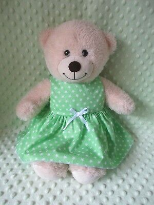 DRESS  suitable Build a Bear  -  Green with white stars