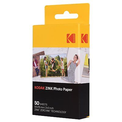 "Kodak 2x3"" Sticky-Backed ZINK Photo Paper (50 Sheets) - Compatible With Kodak"