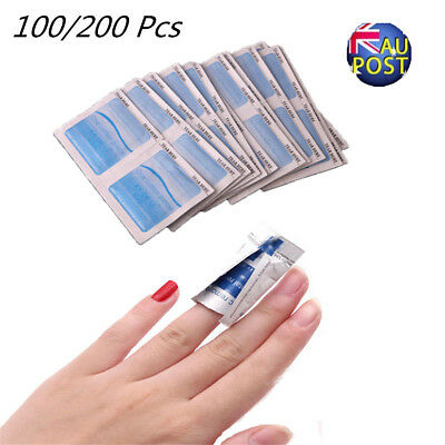 100/200x Gel Polish Remover UV Soak Off AcetoneRemoval Wraps Nail Art Cleaner MN