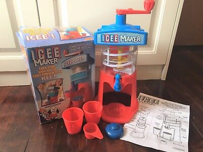 Spin Master Toys ICEE MAKER 2002 Boxed COMPLETE Slushie Maker ICE DRINK