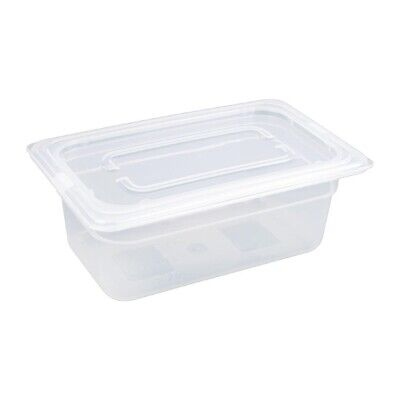 Vogue Polypropylene 1/4 Gastronorm Pan Lid Container Food Storage Catering