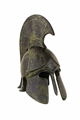 "6"" Ancient Greek WARRIOR'S HELMET Corinthian Spartan Greece bronze statuette 300"