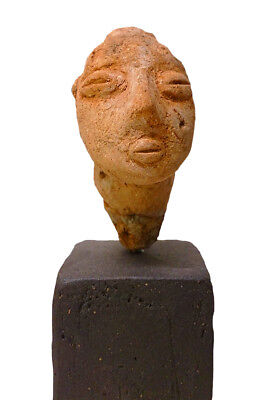 Anthropomorphic Neolithic Head Prehistoric Ancient Greece Ceramic Stattuete 6.5""