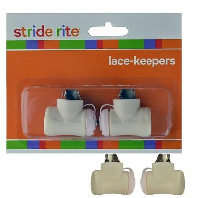 STRIDE RITE Lace Keepers 1 pair per pack (2 Keepers) unisex clothing bell on top