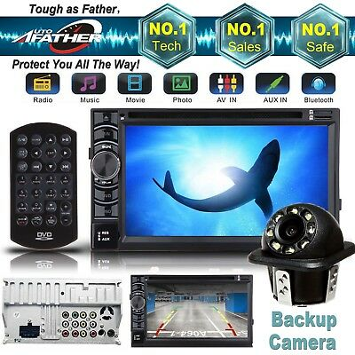 For Ford Digital Double 2 DIN Car Stereo Radio DVD Player Bluetooth MP3 + CAMERA