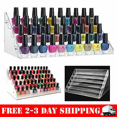 Makeup Nail Polish Display Stand Organizer Holder Clear Rack Acrylic 60 Bottles