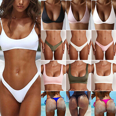 Women Brazilian Swimwear Bandage Bikini Bra Push-Up Tops Thongs Bottoms Swimsuit