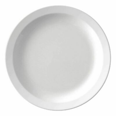 12 X Kristallon Melamine Narrow Rim Plates Serving Kitchen Tableware Restaurant