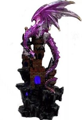 Dragon On Castle USB LED Lamp 23cm