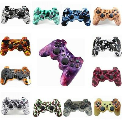 Camo Bluetooth Wireless Dual Vibration Controller Gamepad For PS3 PlayStation 3