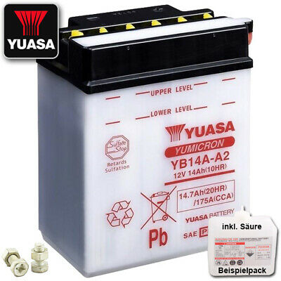 Batterie Polaris Xpedition 325  Bj. 2000 YUASA YB14A-A2