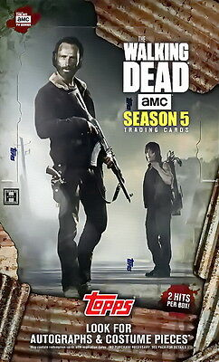 2016 Topps The Walking Dead Season 5 Factory Sealed Trading Cards Hobby Box NEW