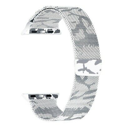 For Apple Watch 42mm Milanese Loop Magnetic Stainless Steel Watchband (Camouf...