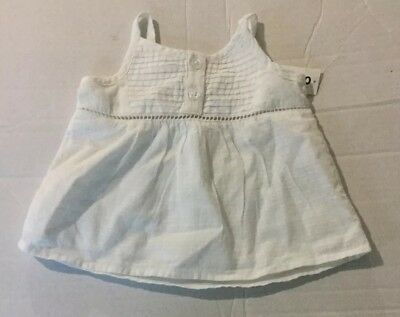 New Girls Old Navy white woven sleeveless top 3-6 months