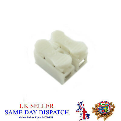 2 Way Spring Wire Connector Terminal Block Controller Crimp Push-in Cable