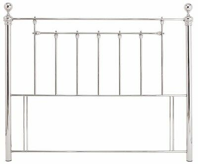 Traditional antique,Victorian ornate metal nickel silver headboard bed head end.