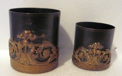 Rare - French Empire Style (19th Cent) Bronze  Set of 2 cups