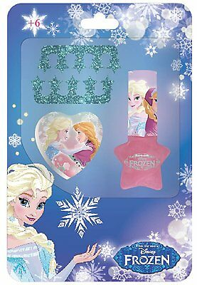 FROZEN DISNEY set bambina con smalto limetta e accessori per decorare le unghie