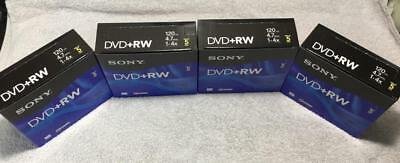 4 Boxes of 5=20 Pack Sony 5DPW47R2H 5-Pack DVD+RW Rewriteable DVD Discs (4.7GB)