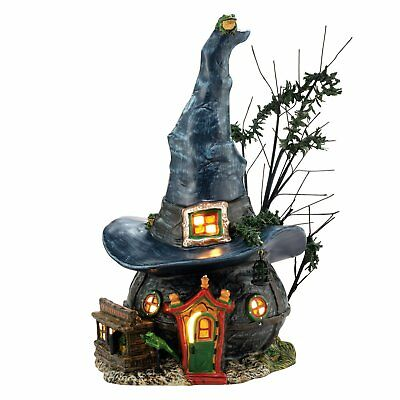 Department 56 Snow Village Halloween Toads and Frogs Witchcraft Haunt Lit House,