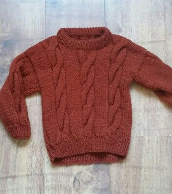Hand knitted boys Cable Knit jumper 18-24 months