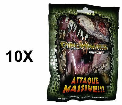 10X ONE2PLAY - Dinowaurs Massive Attack ! 1 Figurines + 2 cartes *NEUF*
