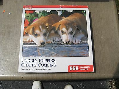 """Dog Themed Jigsaw Puzzle """"Cuddly Puppies"""" 550 pieces - New in Sealed Box"""