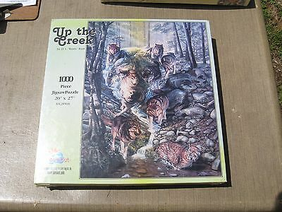 """Wolf Themed Jigsaw Puzzle """"Up the Creek"""" 1000 pieces - New in Sealed Box"""