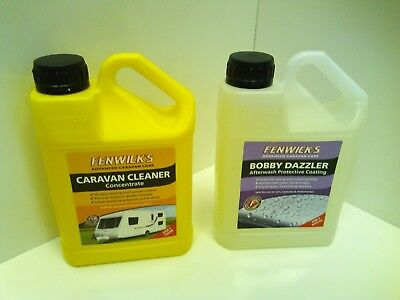 Fenwicks Advanced 1L Caravan Cleaner Concentrate Step 1 and Bobby Dazzler Step 2