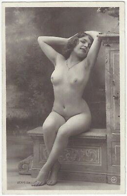 1920 French NUDE Photograph - Beautiful, Youthful Fernande by Jean Agelou